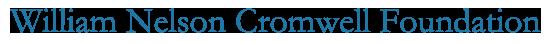William Nelson Cromwell Foundation Logo